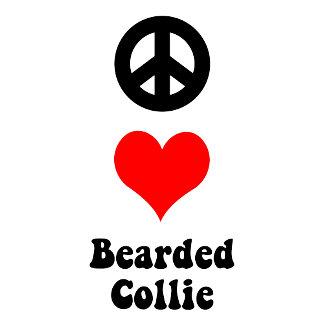 peace love Bearded Collie