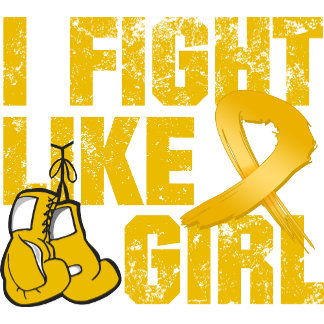 Appendix Cancer I Fight Like A Girl (Grunge)