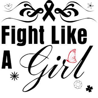 Melanoma Fight Like A Girl Ornate