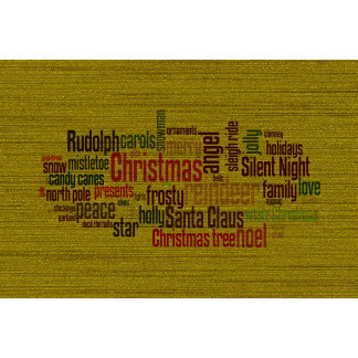 Gold Christmas Word Cloud