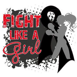 Melanoma Cancer Fight Like A Girl Grunge