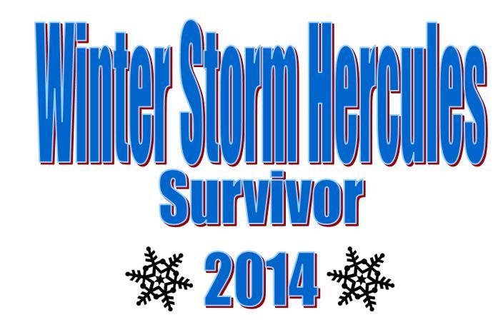 Winter Storm Hercules 2014