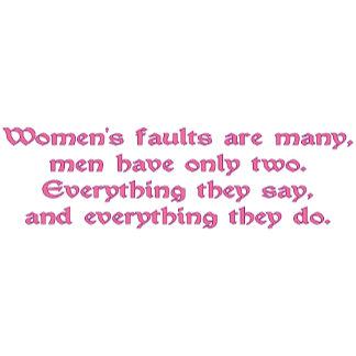 Women's Faults (Rectangular)