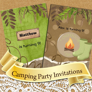 Camping Out Invitations