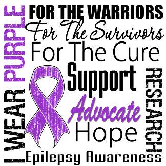 Epilepsy I Wear Purple Ribbon Tribute