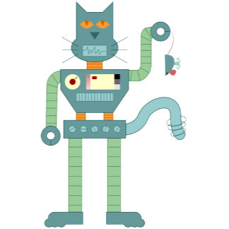Robot Cat & Wind Up Mouse