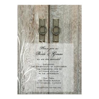 Double Barn Doors Wedding