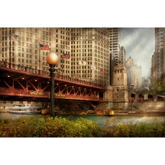 Chicago, IL - DuSable Bridge built in 1920