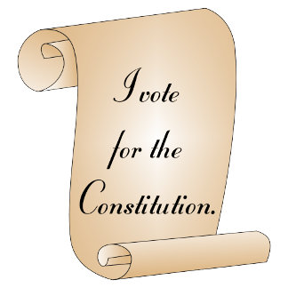 Vote for the Constitution political swag.