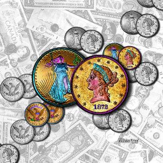 o. MONEY - BIG COINS POP ART