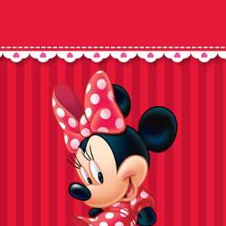 Red and White Minnie Shy