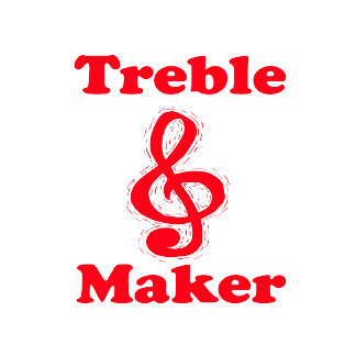treble maker clef red music design