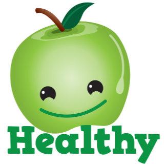HEALTHY with cute little kawaii apple