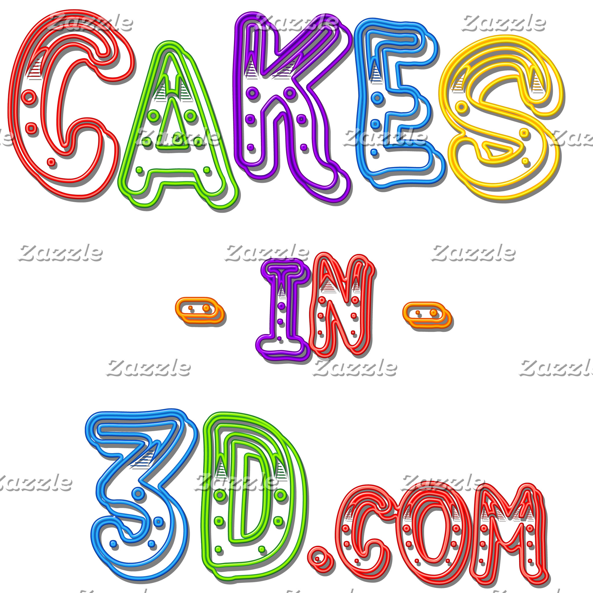 The Cakes in 3D Logo
