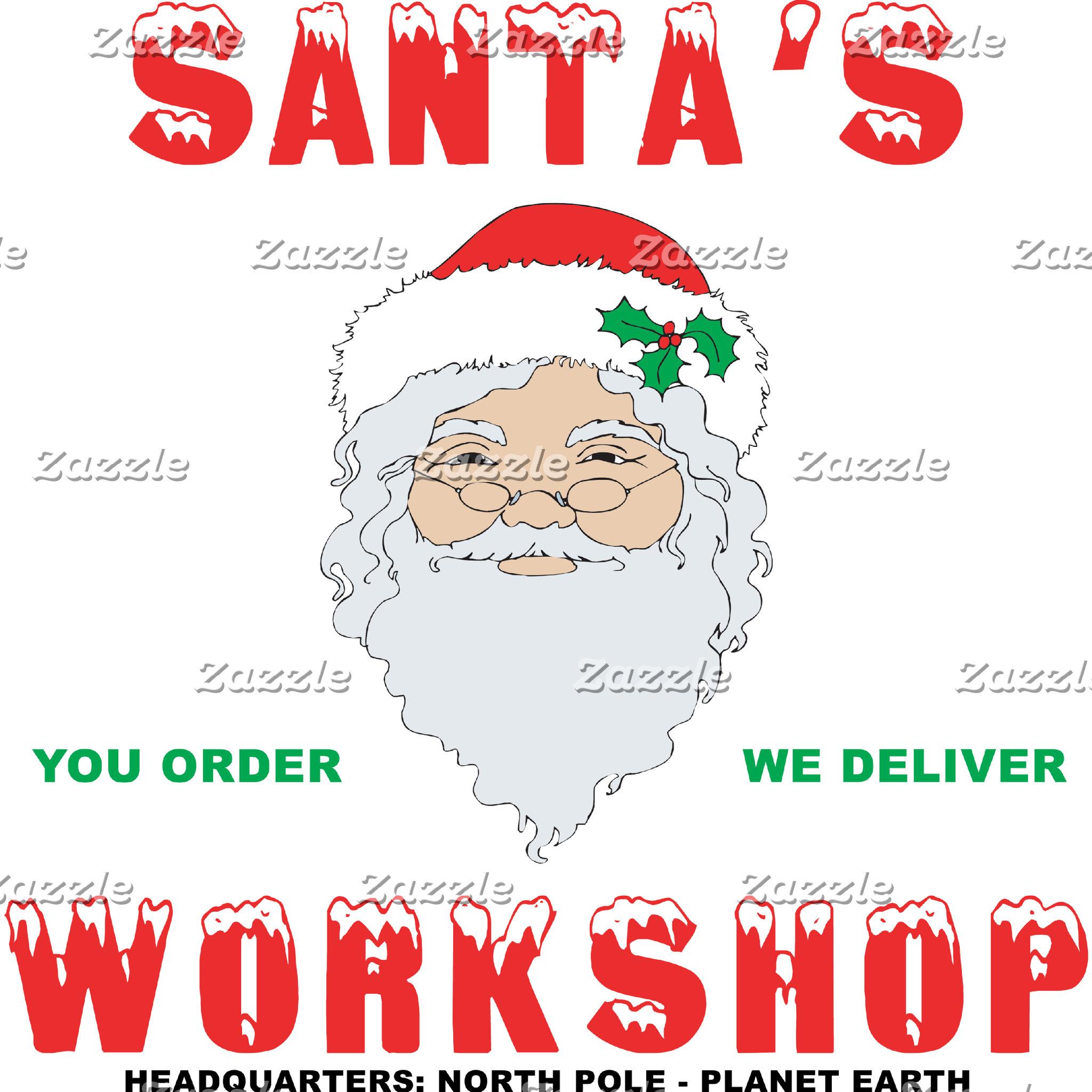 Santa's Workshop T-Shirt Sweatshirt Gift Cards