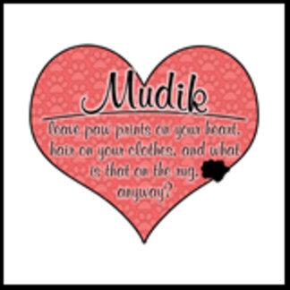 Mudi Paw Prints on Your Heart Humor