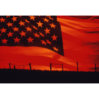 Digital composite of the American Flag