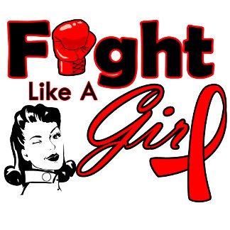 Blood Cancer Fight Like A Girl - Retro Girl