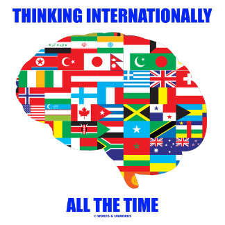 International (Flags On Brain Silhouette)