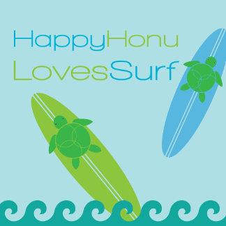 Happy Honu Loves Surf
