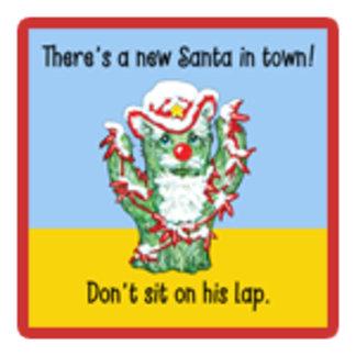 Funny Cactus Santa Claus Southwest Christmas