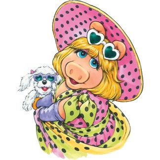 Miss Piggy Holding Puppy