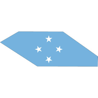 Micronesia Flag Map full size