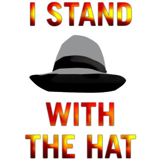 I stand with the hat