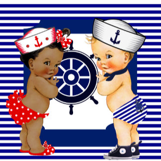 Sailor Baby Shower Boy and Girl Invitations