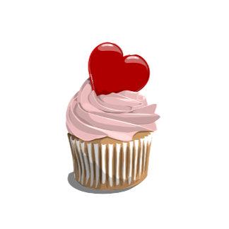 Valentine's heart cupcake