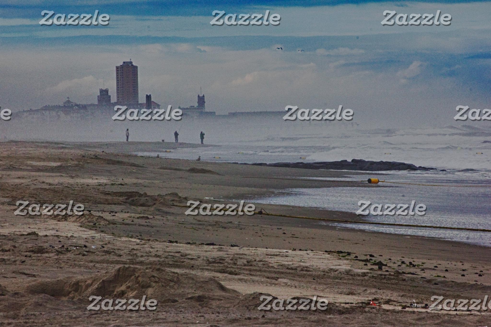 Beach Beaches Sand Ocean Fog Oceanview HDR