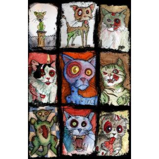 9 zombie cats