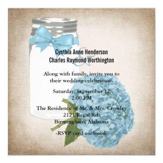 Hydrangea and Mason Jar Wedding Set