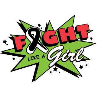 Melanoma Cancer Fight Like A Girl POW!