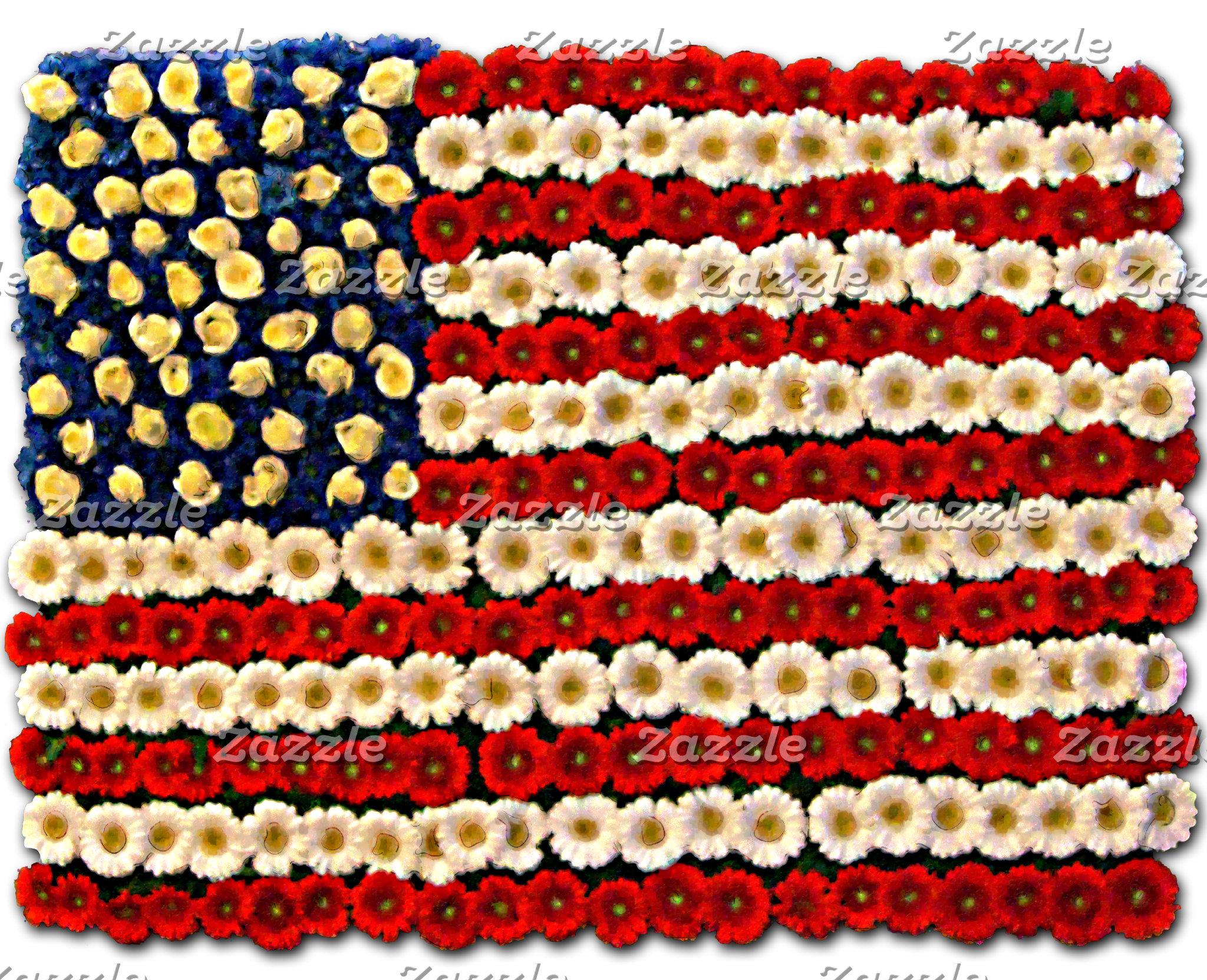 Flower Power US Banner