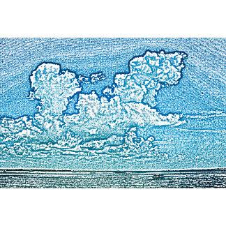 clouds over beach sketch florida sky cool