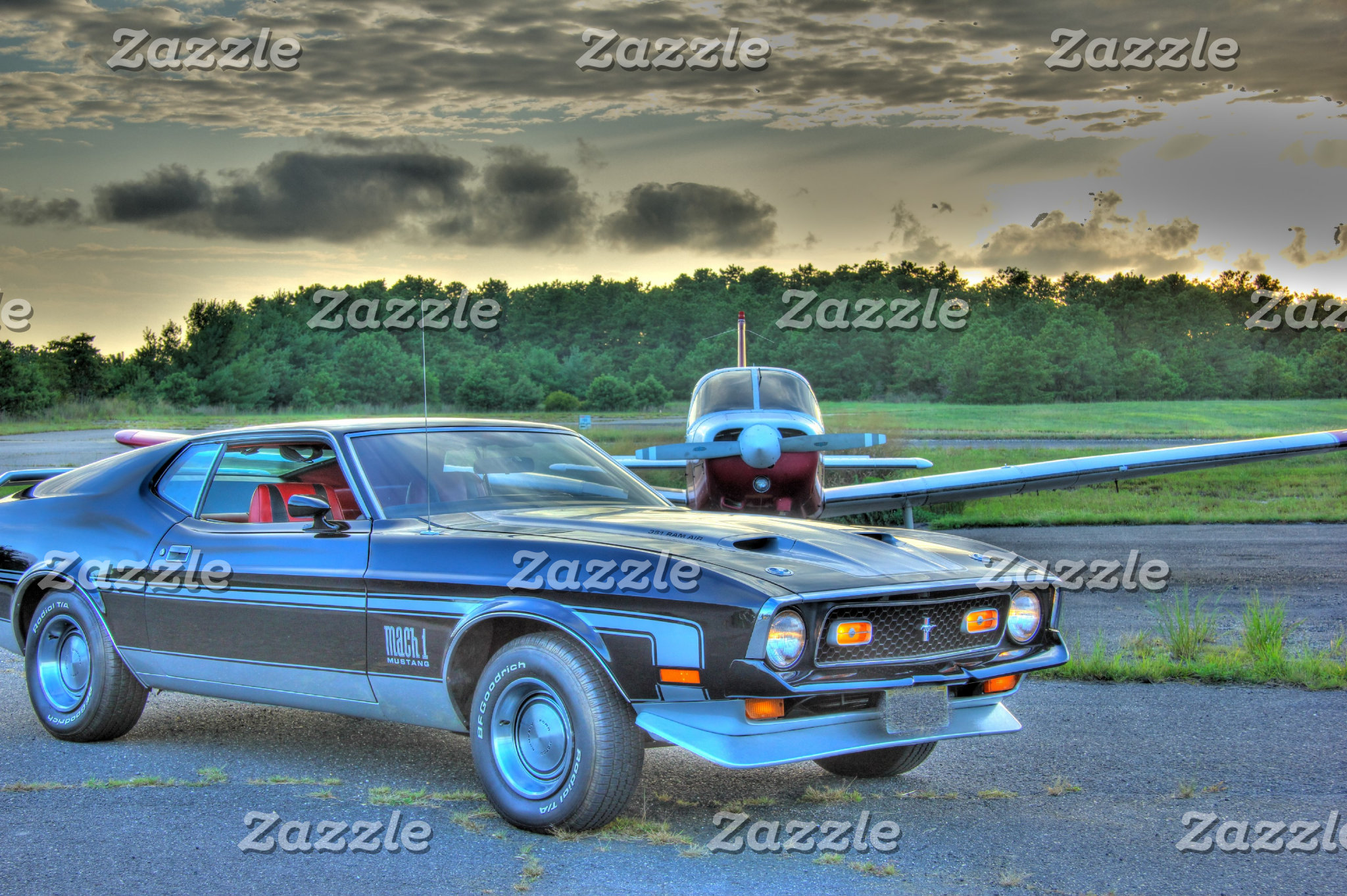 """""""Muscle Car"""" Plane  HDR Cool Photo Picture Gift"""