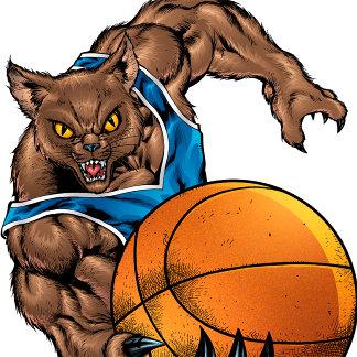 Wildcats or Bobcats Basketball Art - Various Color