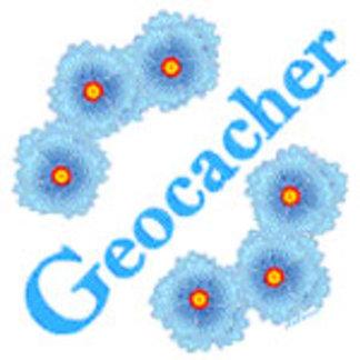 Geocacher Blue Flowers