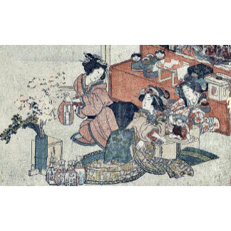 Rice wine for the Doll's Festival by Kubo, Shunman