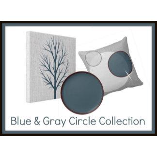 Blue and Gray Circle