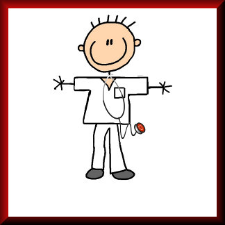 Male Stick Figure Nurse