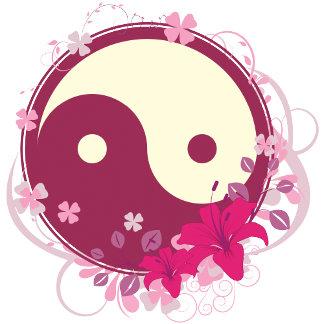 Yin Yang Pink Floral