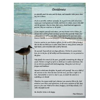 Desiderata Poem Beach Scene - Fathers Day Gift