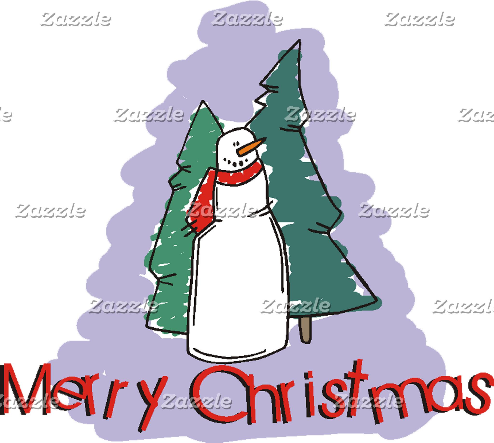 Merry Christmas Snowman T-Shirt Sweatshirt Gifts