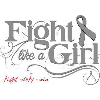 Brain Tumor Fight Like A Girl Elegant