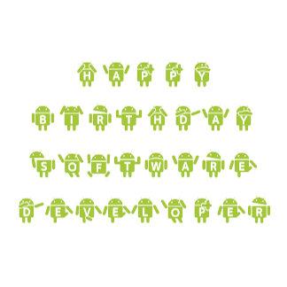 Happy Birthday Software Developer (Bug Droid)