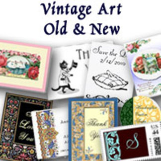 Vintage Art, Invitations and More
