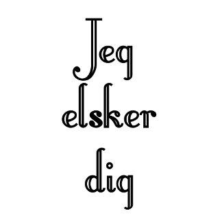 Danish - Jeg Elsker dig