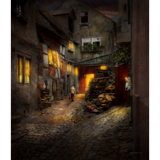 City - Germany - Alley - Coming home late 1904